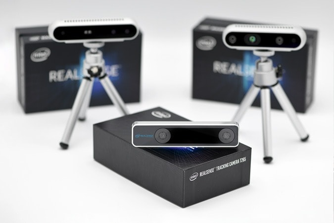 Depth anf tracking camera products from Intel RealSense