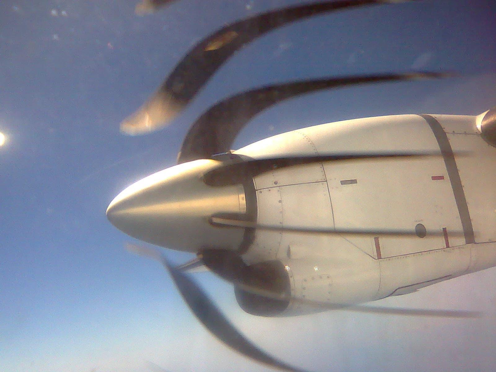 Rolling shutter distortion of propeller blades
