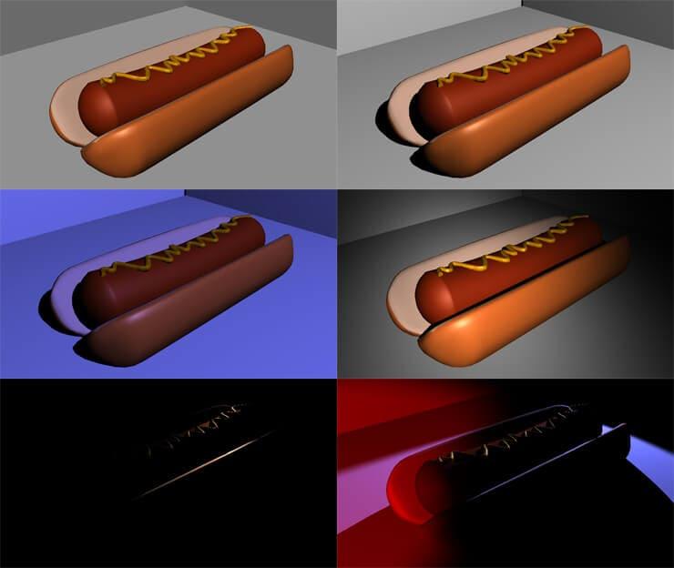 Hotdog in the dark
