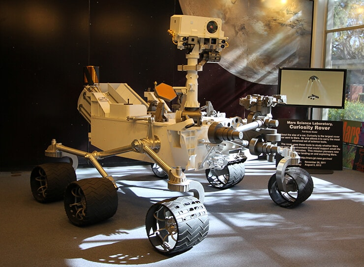 Image shows Nasa's Mars Curiosity Rover / Robomaker Dev Kit