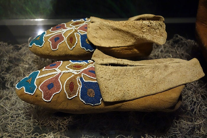 Cherokee moccasins, c. 1840 - Bata Shoe Museum, Toronto