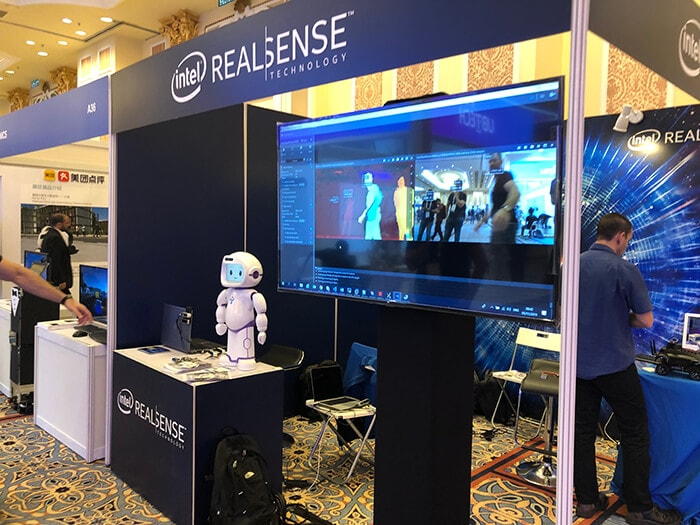 Intel RealSense Viewer with OpenVINO at IROS 2019, Macau