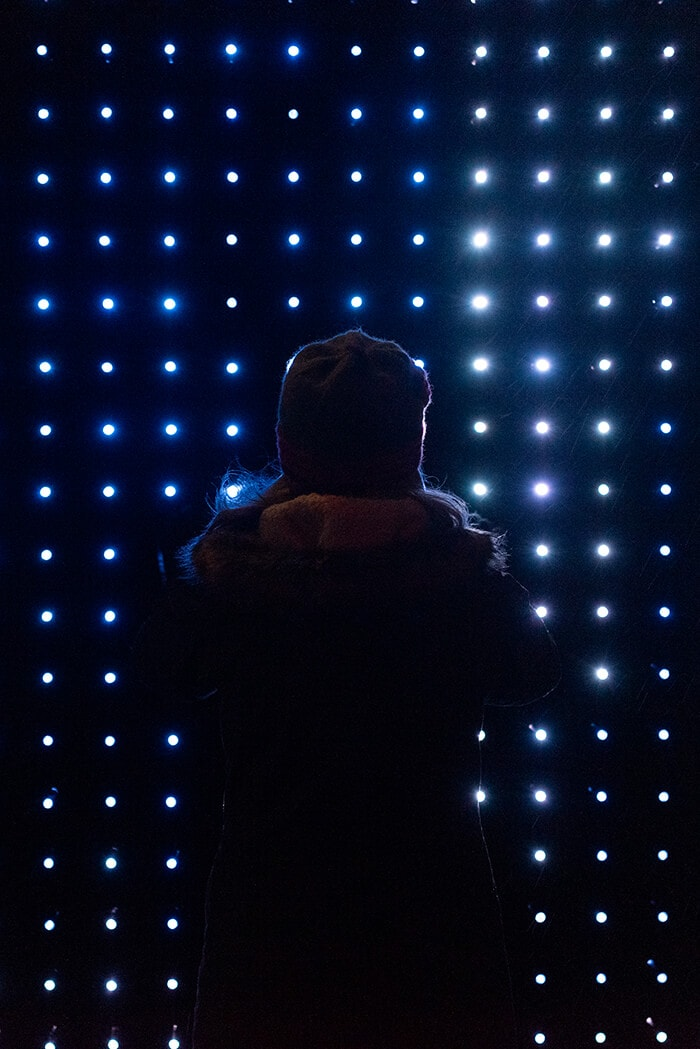 People interacting with the Lucid Installation, photo courtesy Timothy Niou