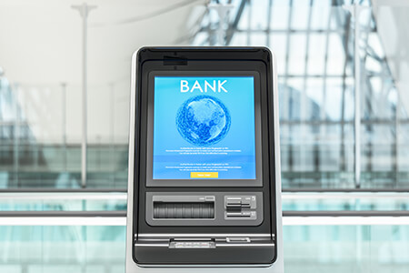 Facial authentication for ATM