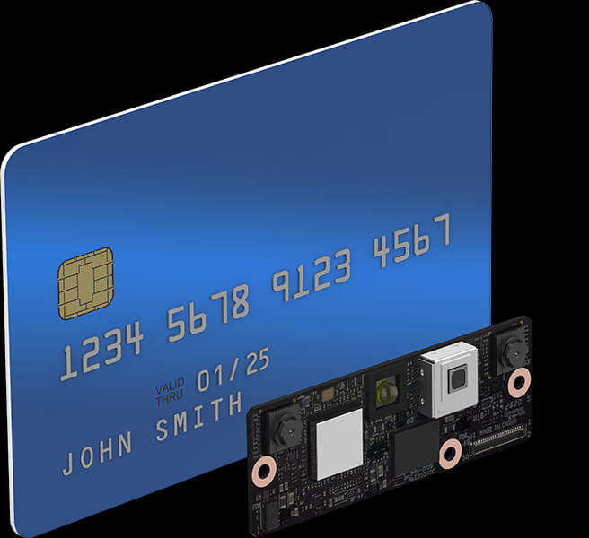 Facial authentication module F450 is smaller than a credit card