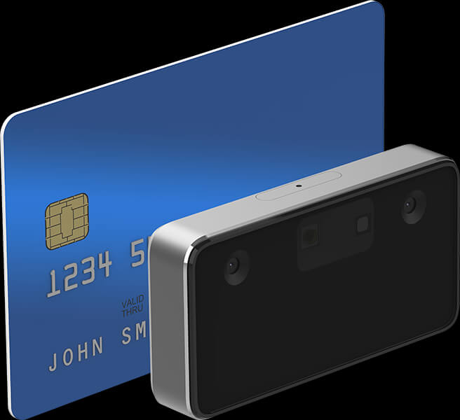 Facial authentication peripheral F455 smaller than a credit card
