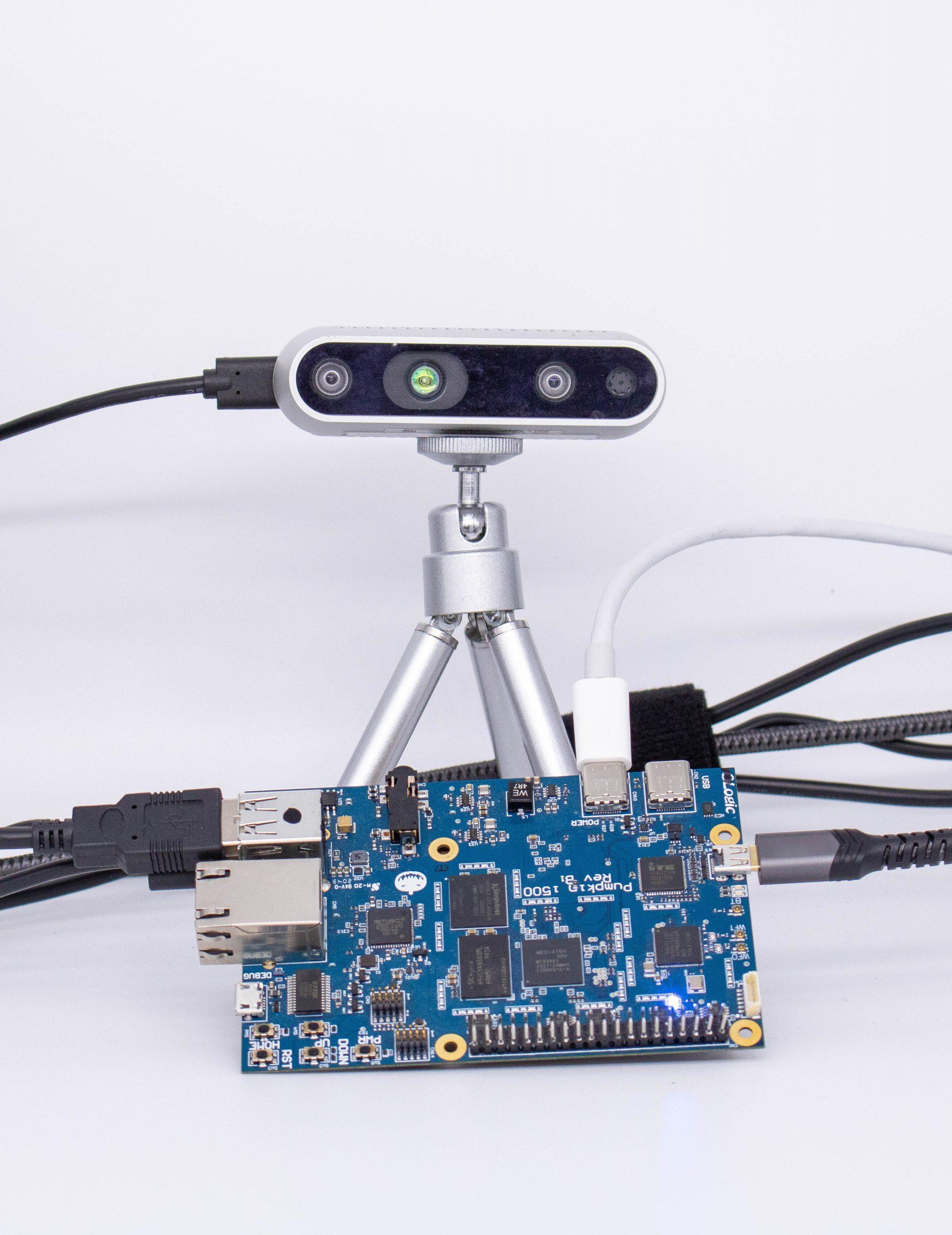 Intel RealSense Depth Camera D435 and Pumpkin i500