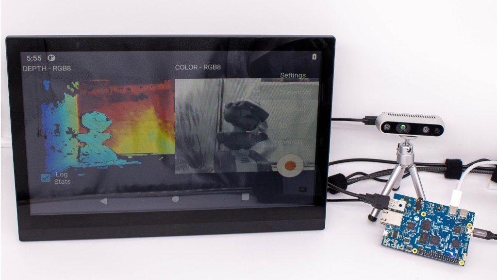Pumpkin i500 and Intel RealSense Depth camera D435